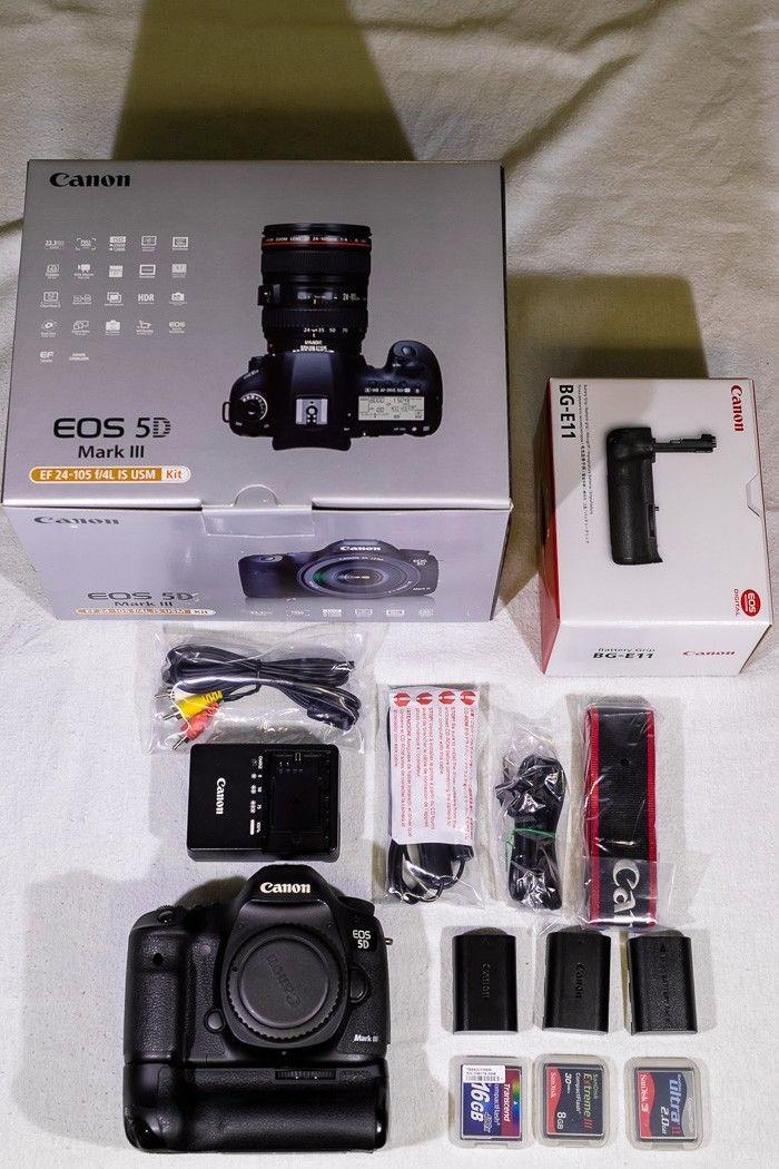 Canon EOS 5D Mark III 22.3mp Body mit Canon Batteriegriff BG-E11 - spitze