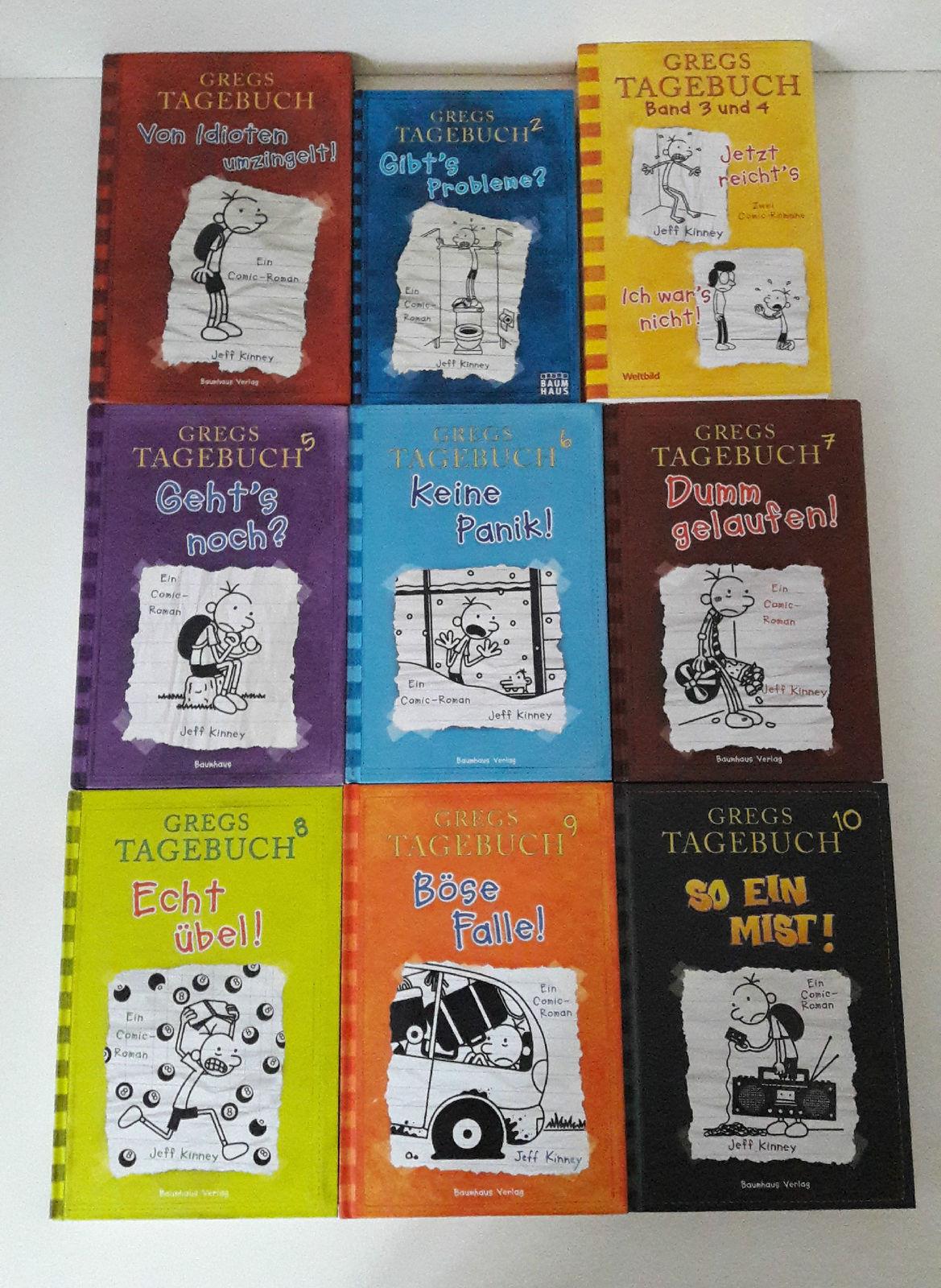 Gregs Tagebuch Teil: 1,2,3,4,5,6,7,8,9,10, Jeff Kinney, Buch,Gregstagebuch,Greg