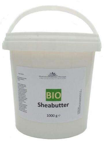 Bio Sheabutter 1 kg  Shea Butter  100% rein  (16,95/kg) 1000 g