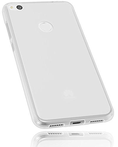 mumbi Schutzhülle für Huawei P8 lite 2017 Hülle transparent weiss
