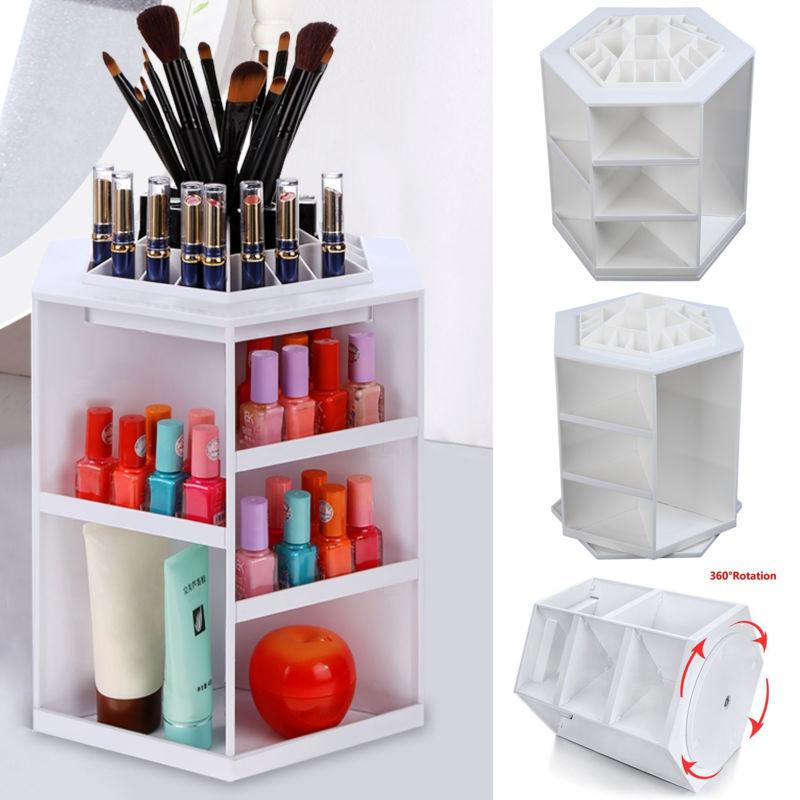 Kosmetikorganizer Make-Up Organizer Schminke Sortierkasten Kosmetik Ständer weiß