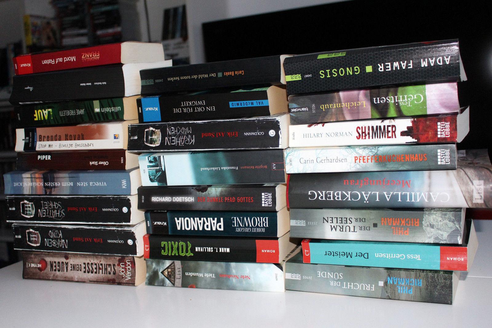 25 Stk. Krimis Thriller Schweden Psychothriller Bücher Paket Sammlung Konvolut