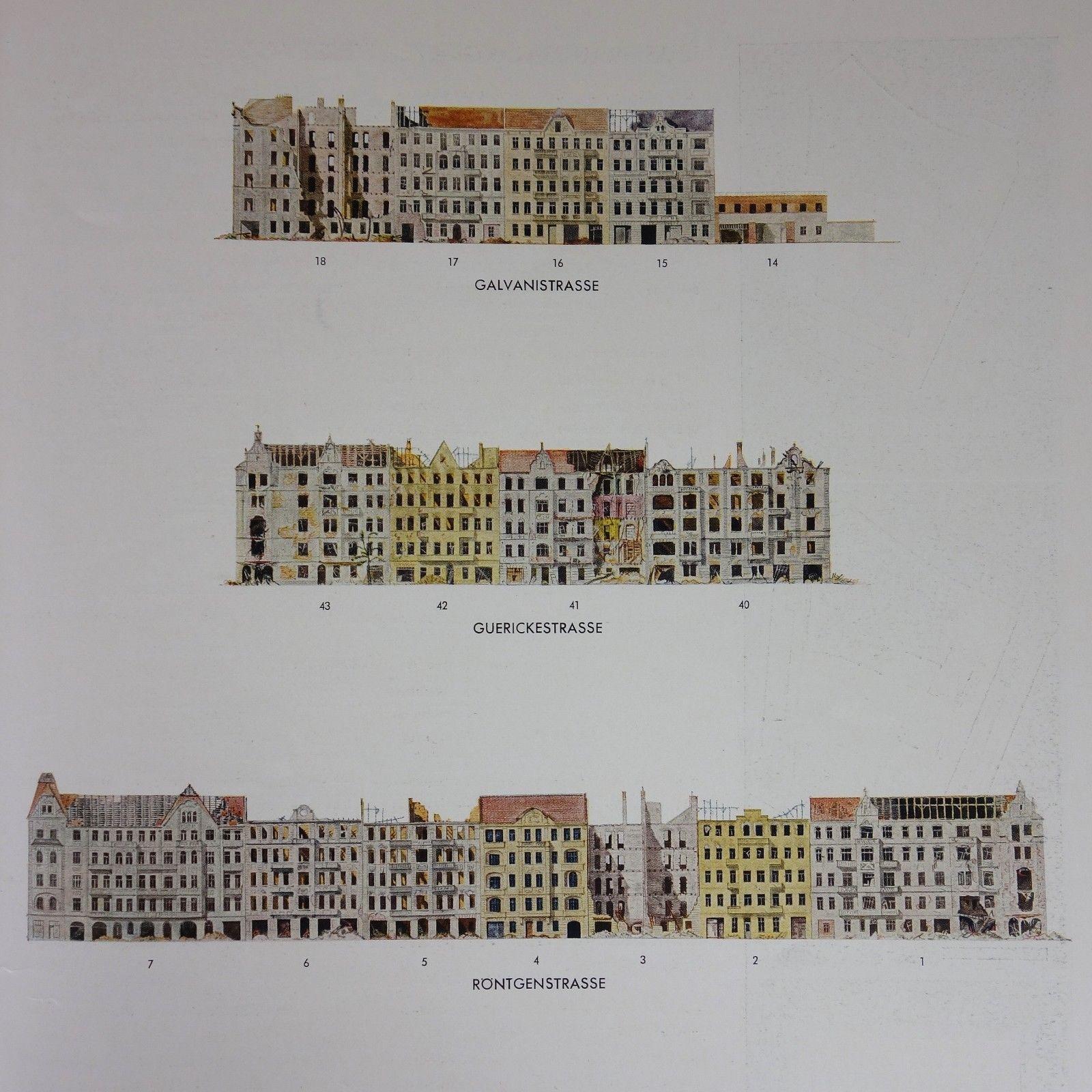 1944 - ARCHITEKTUR - Berlin Charlottenburg - WOHNUNGSBAU Weltkrieg Bombenschäden