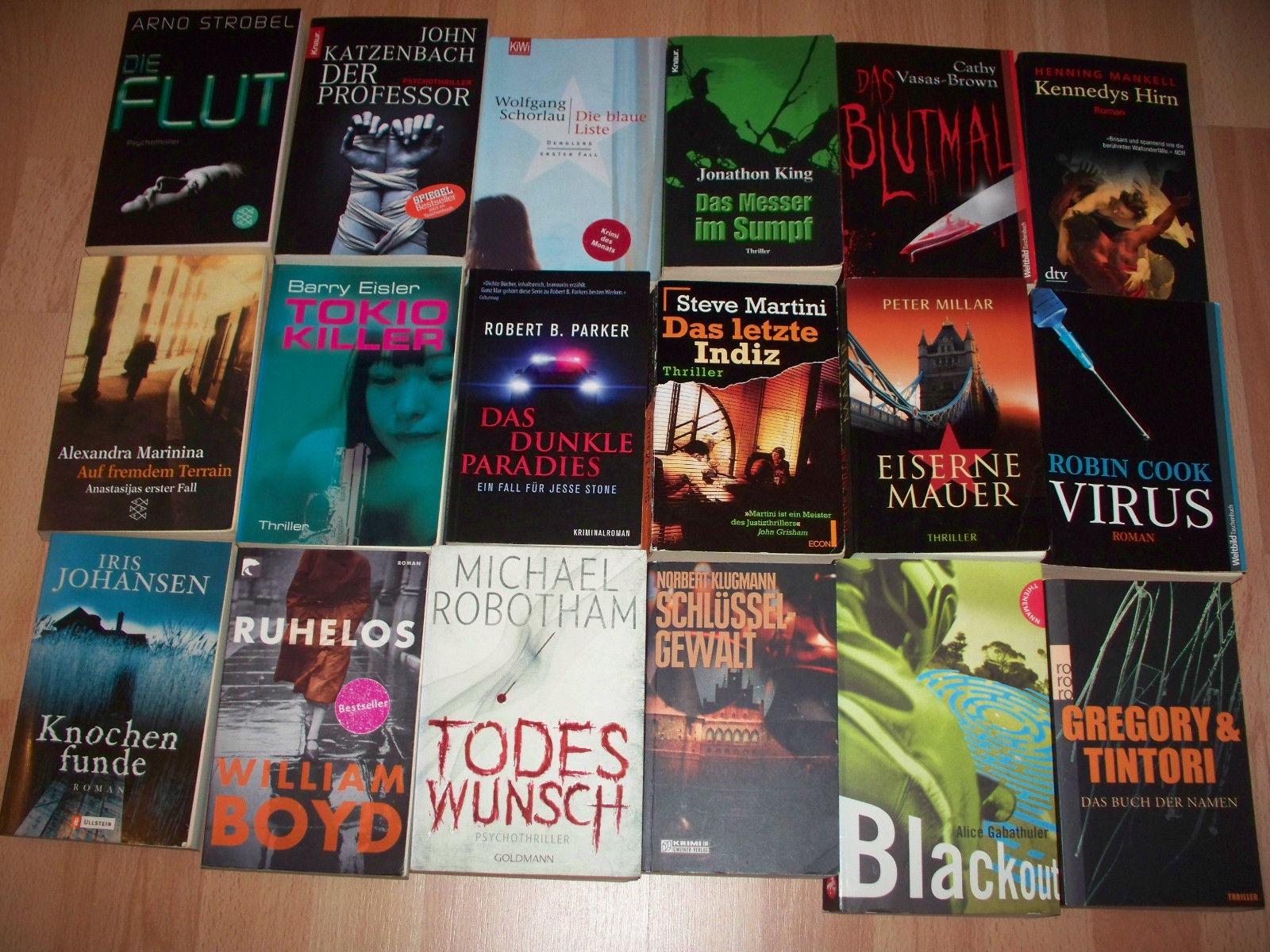 Konvolut Thriller Taschenbücher, Psychothriller Krimis 18 Stück