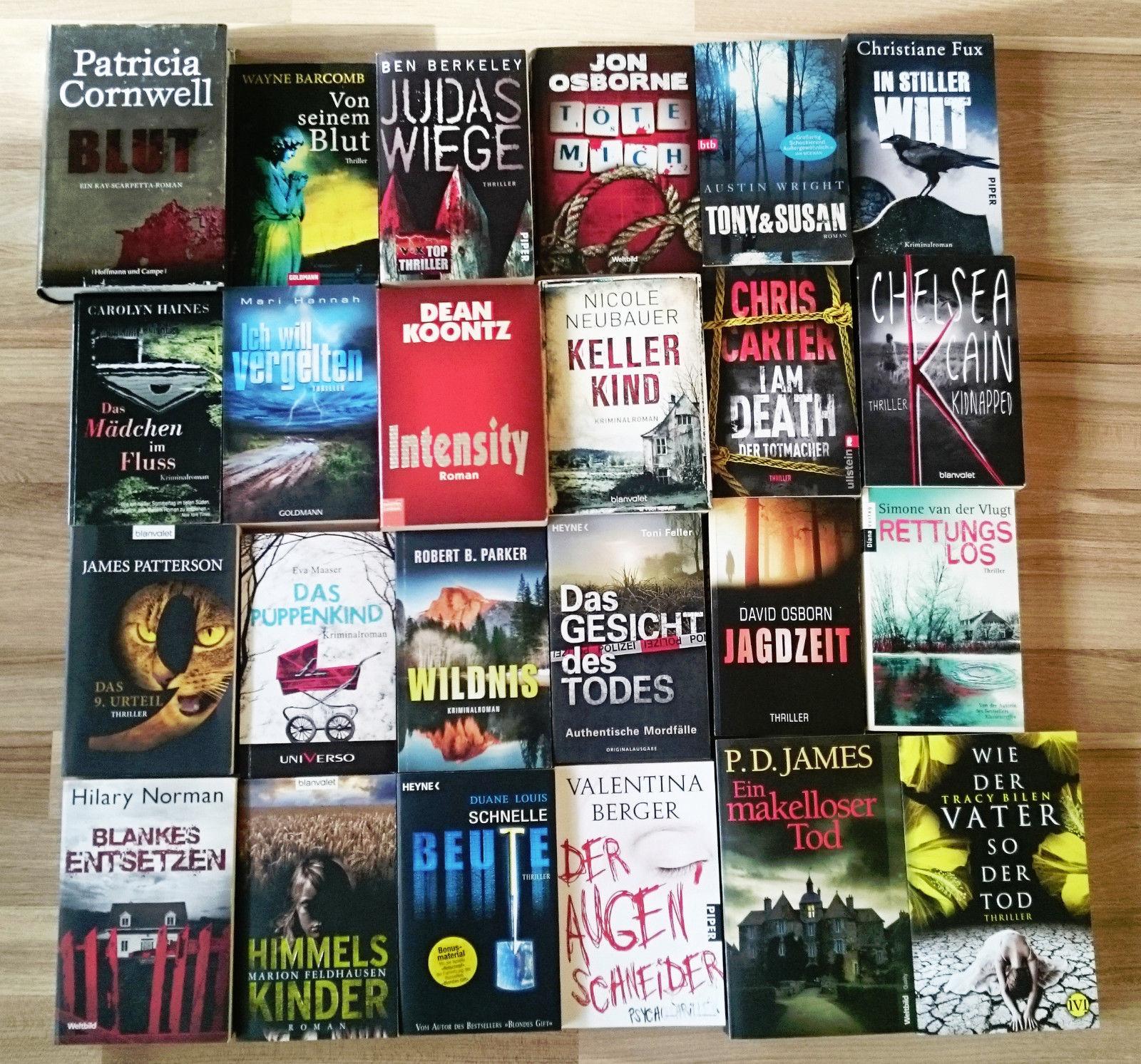 Bücherpaket*Büchersammlung*Bücher*Paket*Krimis*Thriller*Krimi*24 Stück*Konvolut