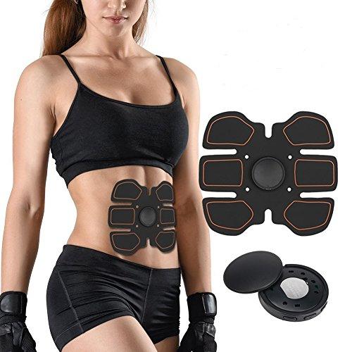 Muskelstimulator, Elektrostimulation Muskel Trainer EMS Gerät EMS TrainingSgerät Fitness Bauch Einfache Fitness Leicht zu tragen für Männer Frauen Geschenk