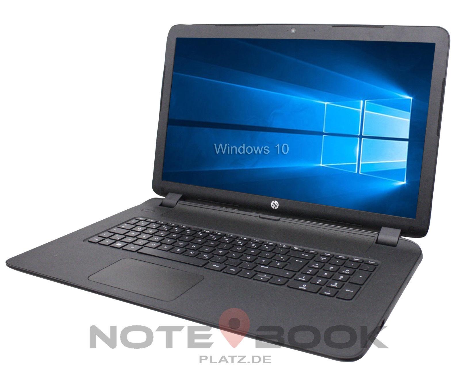 HP Notebook 17 Zoll HD+ Dual Core 2x 2,0GHz 4GB 1000GB Win10 / Office 2016