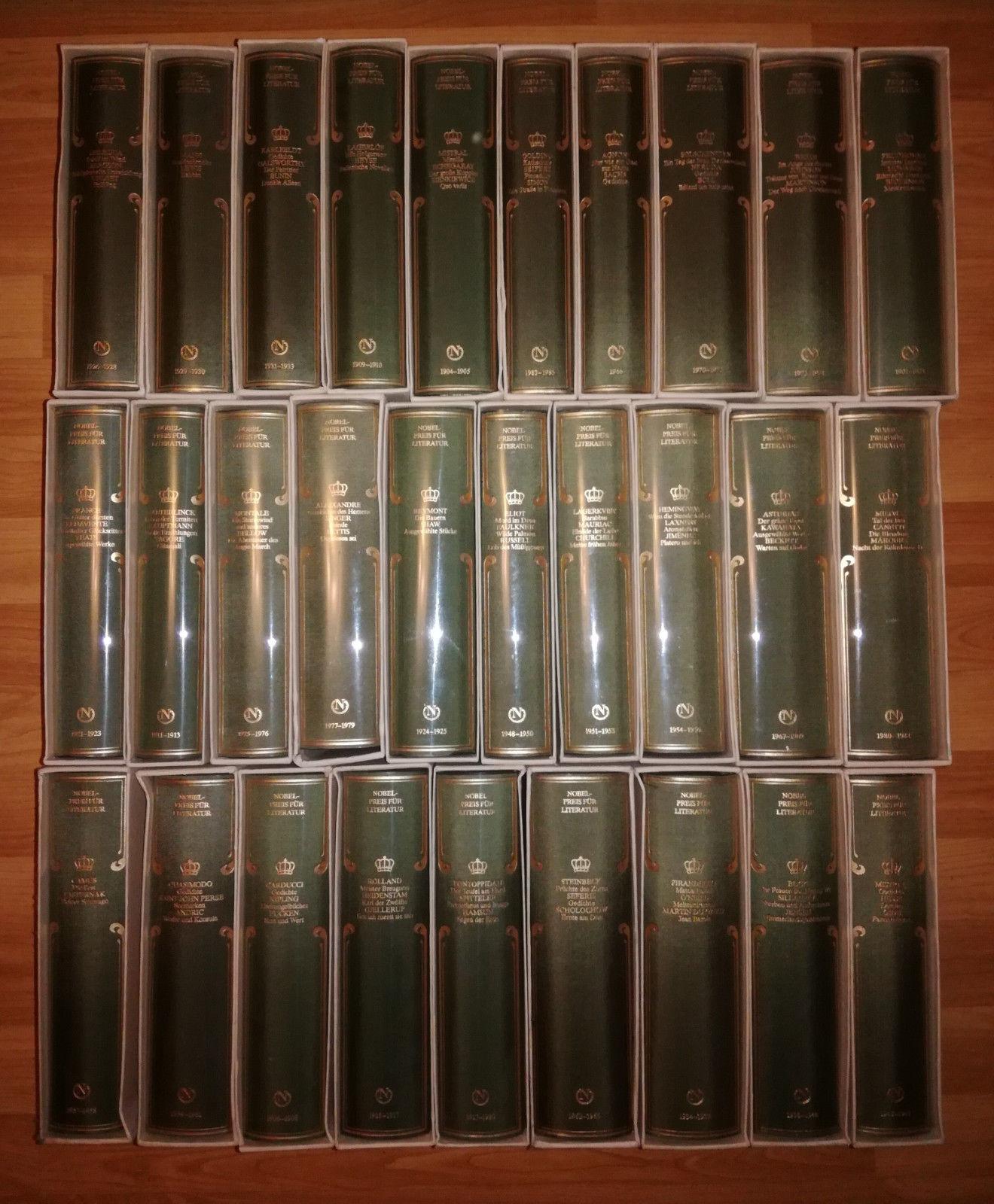 Sammlung, Reihe Nobelpreis für Literatur, Coron, 1904 bis 1985, 29 Bände