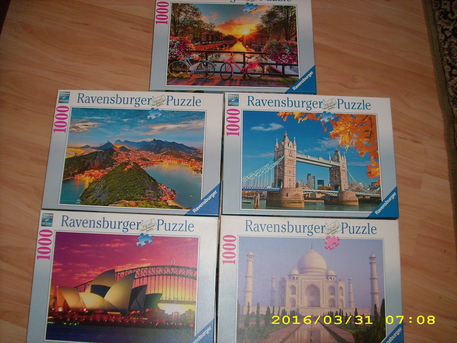 Ravensburger Puzzle Sammlung / Konvolut 1000 Teile