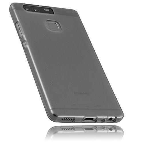 mumbi Schutzhülle Huawei P9 Hülle transparent schwarz