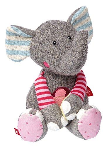 sigikid, Mädchen und Jungen, Stofftier Elefant, Patchwork Sweety, Grau, 38709