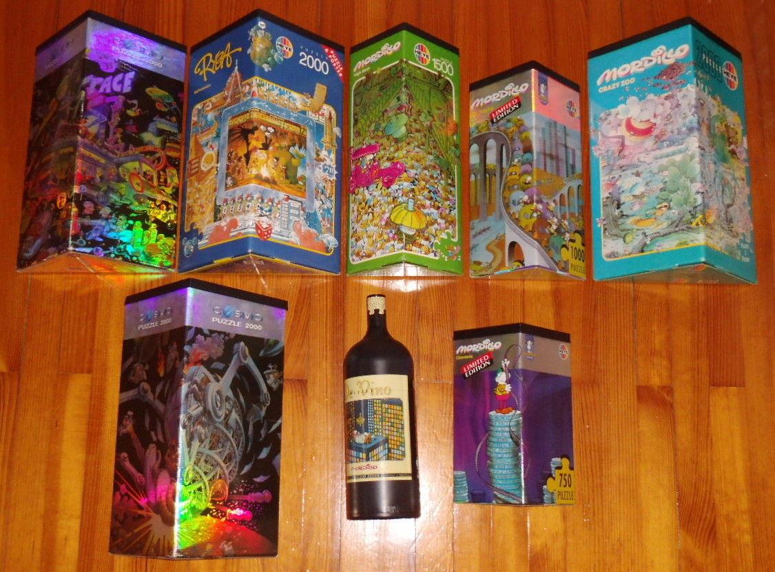 Konvolut Sammlung 8 Heye Puzzle Dreieckspuzzle Flaschenpuzzle Mordillo 2000 u.a.