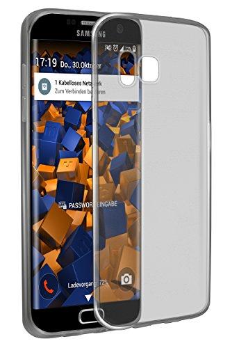 mumbi UltraSlim Hülle für Samsung Galaxy S7 Edge Schutzhülle schwarz transparent (Ultra Slim - 0.8 mm)