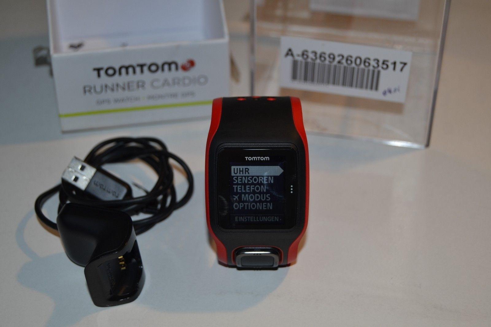 TomTom Multisport Runner3 Cardio GPS-Sportuhrund rot mit OVP - gebraucht