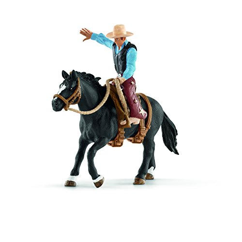 Schleich 41416 - Saddle bronc riding mit Cowboy - Spielzeug