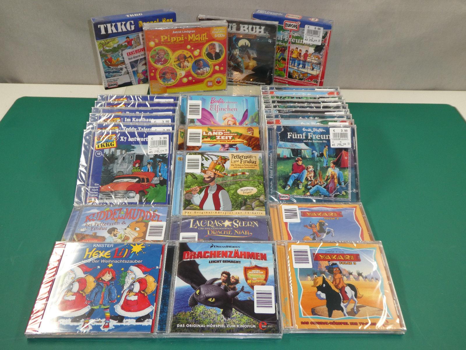 Konvolut von Hörspiel CD alle noch OVP - TKKG/fünf Freunde/Pettersson&Findus...