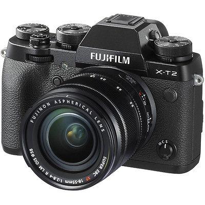 Neu Fujifilm X-T2 XT2 Digital Camera with 18-55mm Lens - Black schwarz
