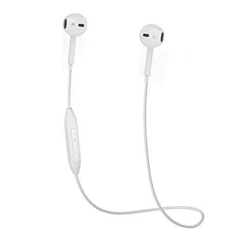 Bluetooth Kopfhörer V4.1 Stereo Bluetooth Headset mit Mikrofon Wireless Kopfhörer In Ear Bluetooth für iPhone/iPad/Samsung/Huawei ect. schweißfeste Sport Kopfhörer Bluetooth für Joggen Laufen (weiß)