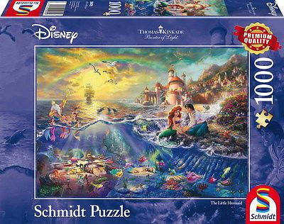 1000 Teile Schmidt Spiele Puzzle Thomas Kinkade Disney Arielle 59479