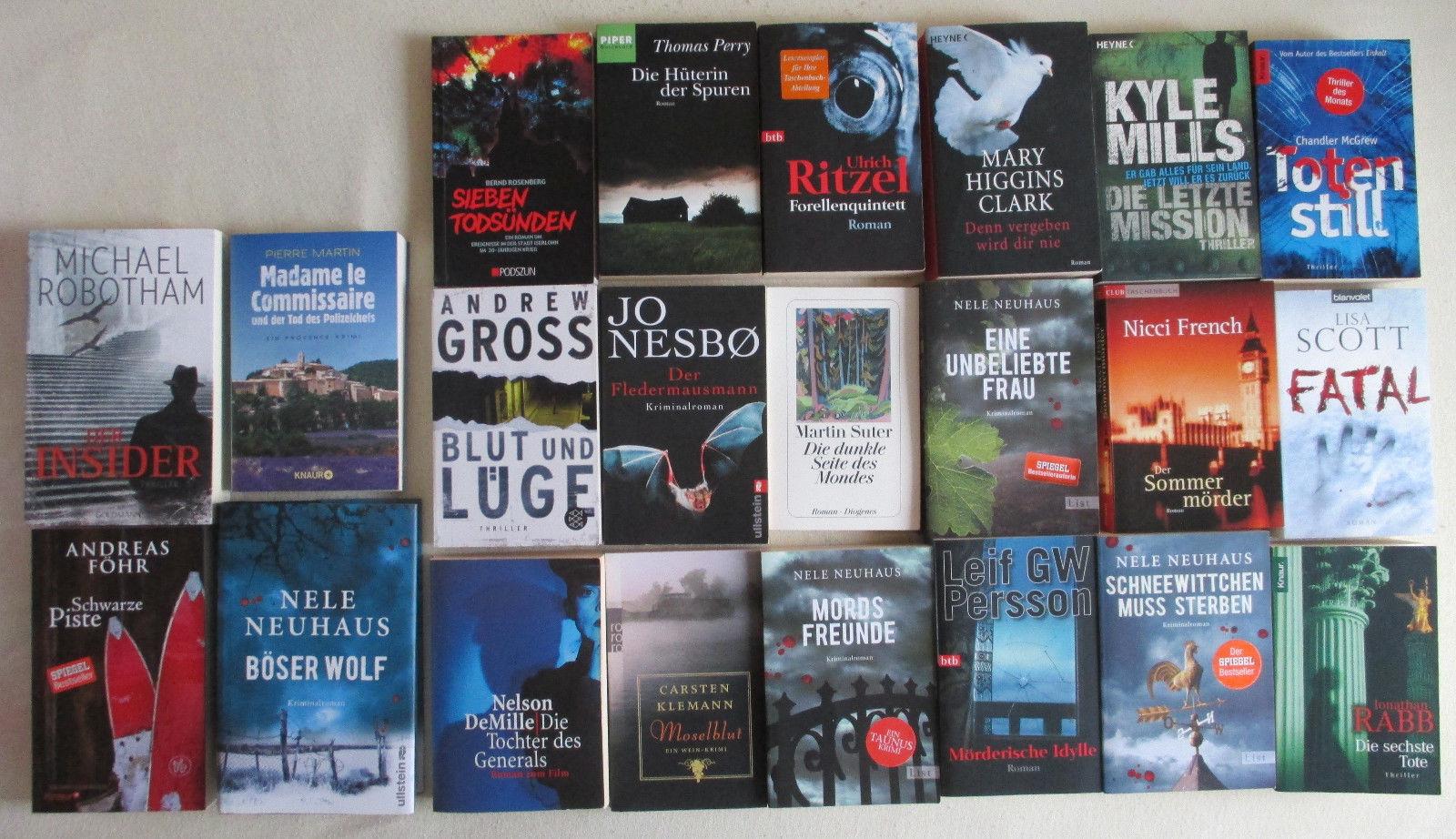 Büchersammlung, Romane, Buchpaket, Thriller, Krimi mit jeder Menge Spannung