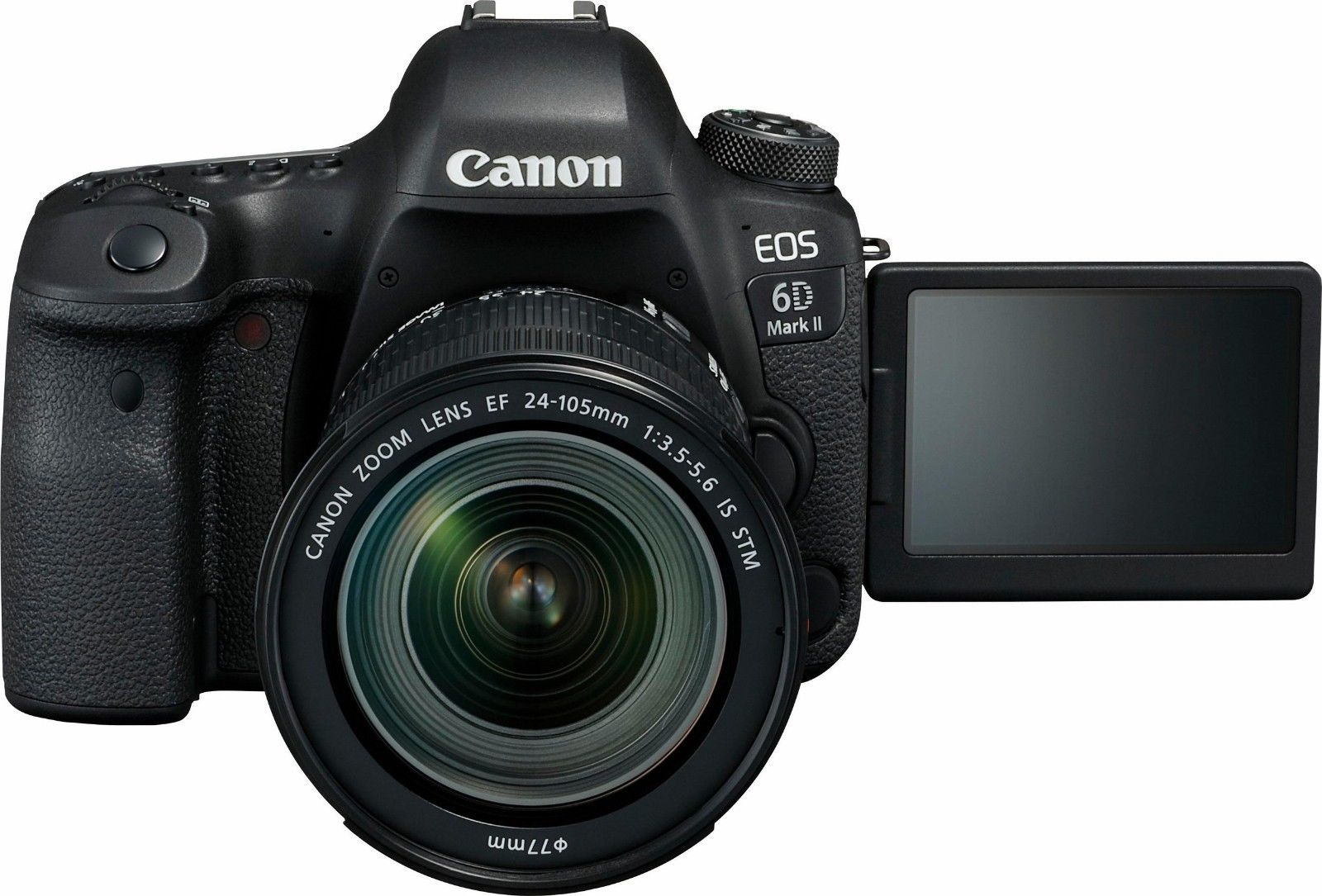 Canon EOS 6D Mark II 26.2MP Digitalkamera - Schwarz (Kit mit EF 24-105mm...