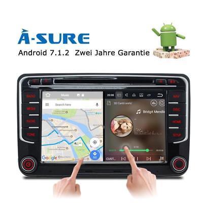 Android 7.1.2 GPS DAB+ Autoradio Navi DVR+ Für VW Passat Golf Tiguan Jetta Seat