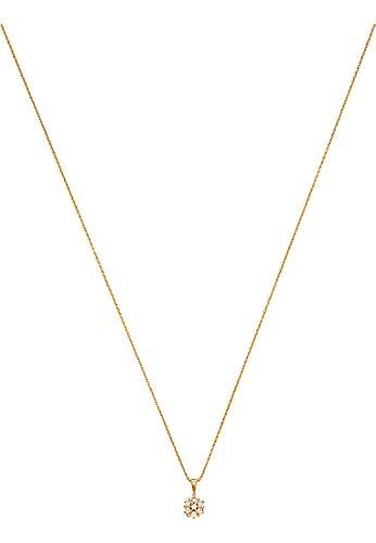 CHRIST Diamonds Damen-Kette 375er Gelbgold 7 Diamant 0,10 ct. One Size, gold