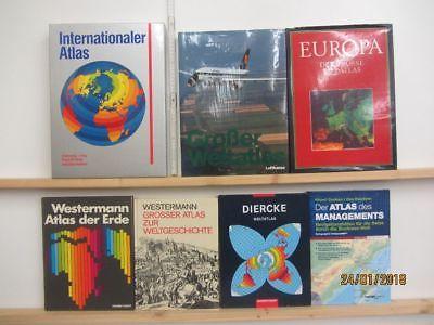 11 Atlanten Atlas Fachatlanten Weltaltanten Weltatlas