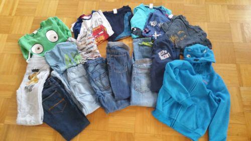 Jungen Bekleidungspaket 16 Teile Gr. 128 134 Jeans Hosen Frühling Fleecejacke