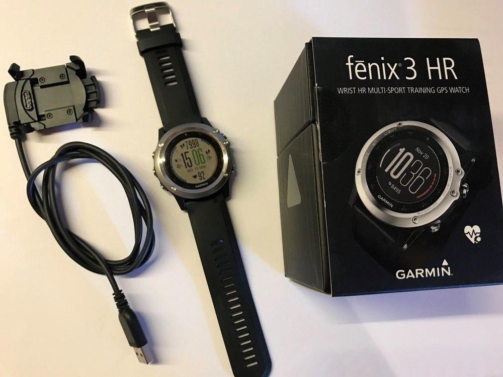 GARMIN fenix 3 HR GPS Multisportuhr 238 mm schwarz/grau Bluetooth OVP