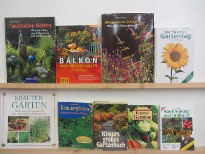 33 Bücher Garten gärtnern Gartengestaltung Gartenpflege Gartenkunst
