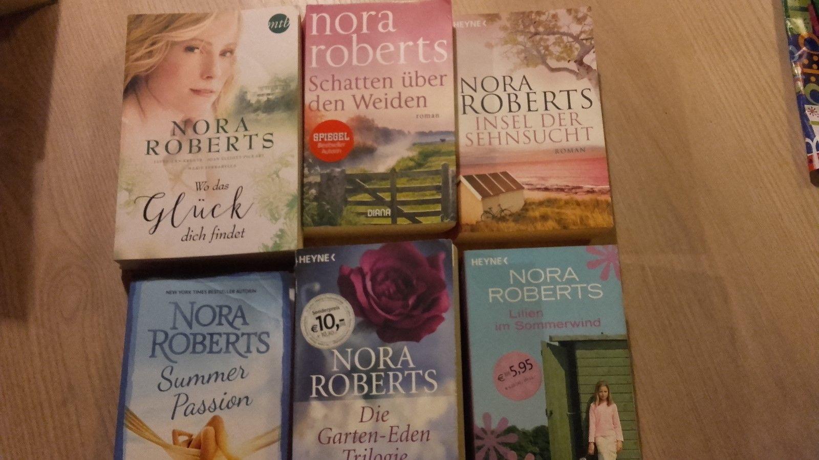 Bücherpaket von Nora Roberts, Frauenromane, gebraucht, aus Nichtraucherhaushalt