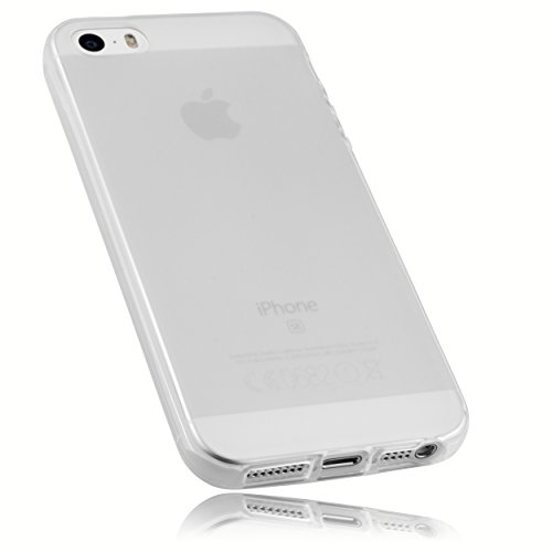 mumbi TPU Silikon Schutzhülle iPhone SE 5 5S Hülle weiß transparent