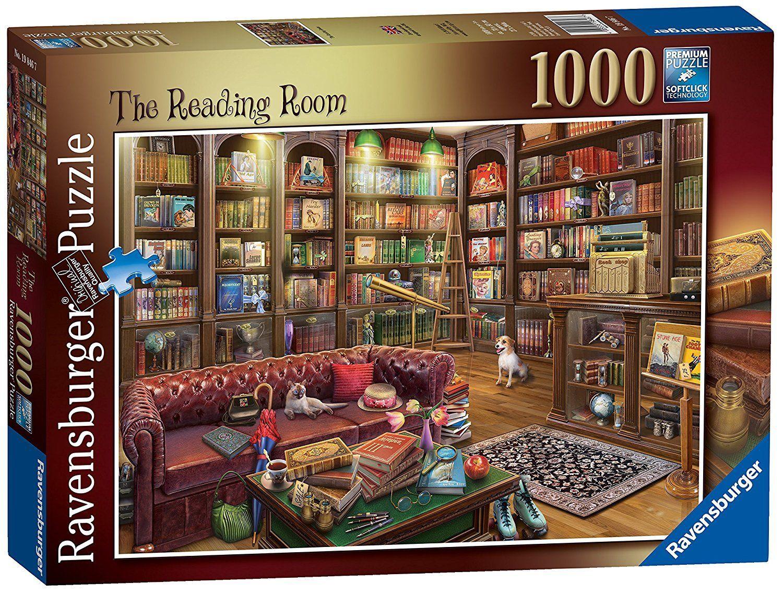 RAVENSBURGER PUZZLE*1000 TEILE*EDUARD*THE READING ROOM*RARITÄT*NEU+OVP