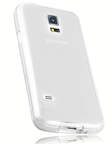 mumbi Schutzhülle Samsung Galaxy S5 Mini Hülle transparent weiss