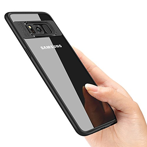 Samsung Galaxy S8 Schutzhülle, Vitutech Galaxy S8 Handyhülle TPU Bumper Case Premium Kratzfest Ultra Dünn Stoßfest Hülle für Samsung Galaxy S8 Case Cover - Schwarz