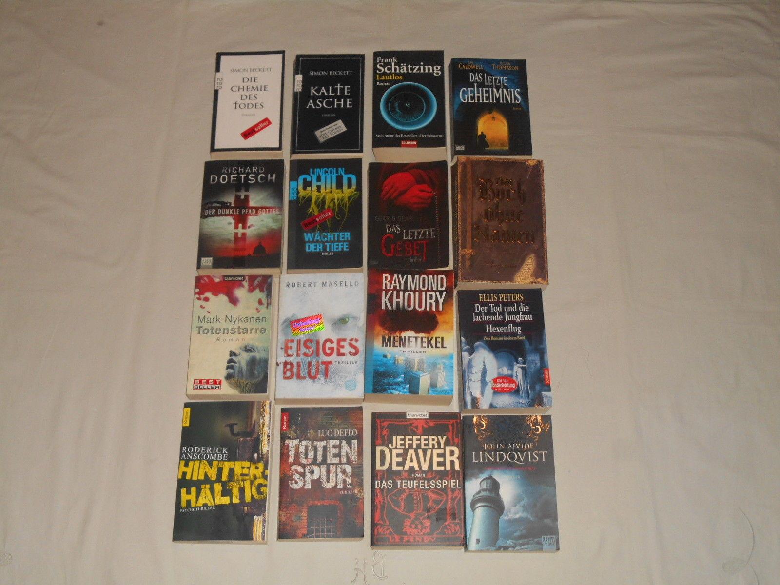 Thriller Bücherpaket , 16 spannende Romane, Taschenbücher