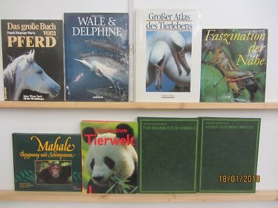 21 Bücher Bildbände Tiere Tierbildbände Säugetiere Fische u.a.