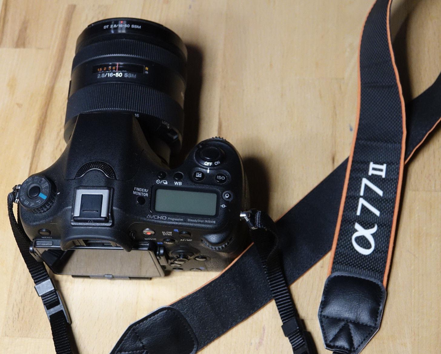 Sony Alpha ILCA-77M2Q 24.3 MP inkl. DT 16–50 mm Objektiv, A77 Mark2 Set