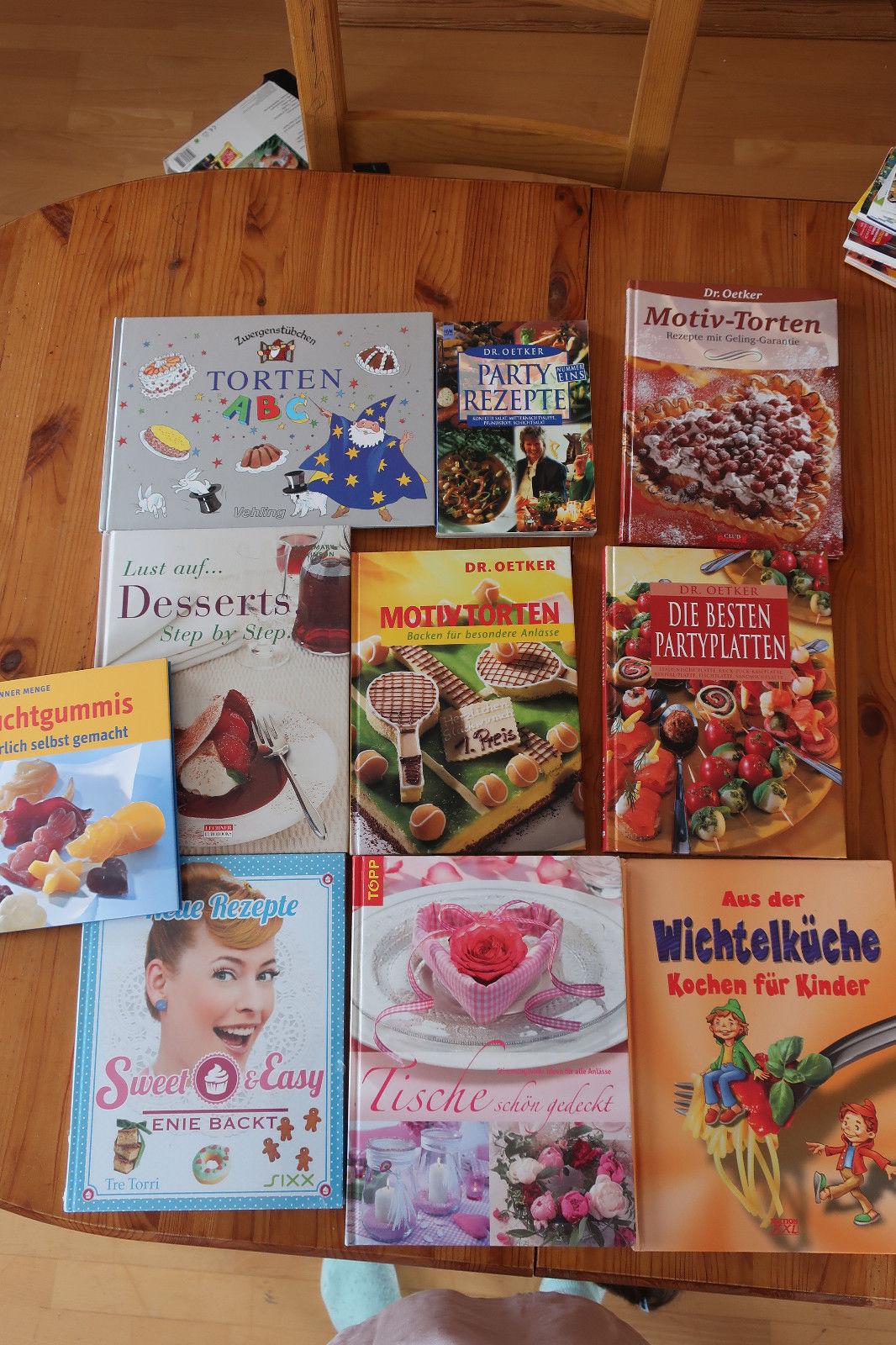 Buchpaket 10 Koch- und Backbücher Dr. Oetker, Enie backt, Zwergenstübchen