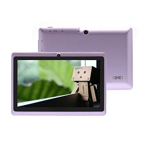 Cewaal Q88H 7 Zoll Tablet PC Wifi Quad Core Android 4.4 - 1GB RAM 8GB Speicher 32GB Erweiterung Doppelkamera 0.3MP Bluetooth HD 1024 x 600 Display Violett