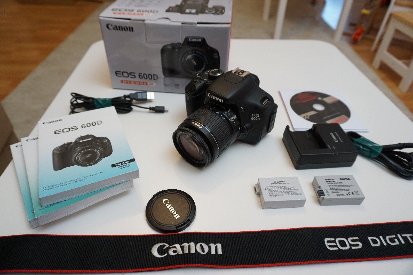 Canon EOS 600D DSLR 18.0 MP SLR-Digitalkamera + Objektiv EF-S 18-55 + OVP