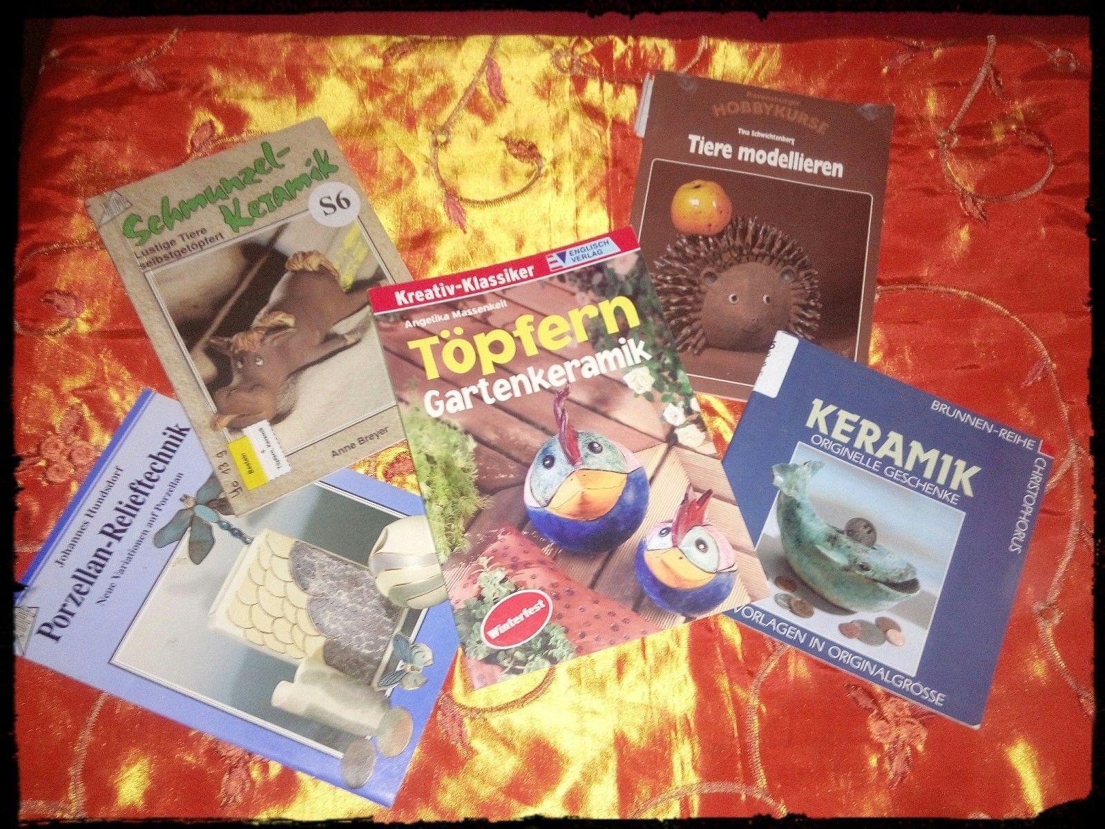 Bücher Keramik, Töpfern - KONVOLUT!  5 Stück im Set