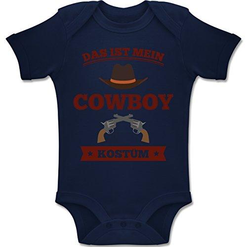 Shirtracer Karneval und Fasching Baby - Das ist Mein Cowboy Kostüm - 6-12 Monate - Navy Blau - BZ10 - Baby Body Kurzarm Jungen Mädchen