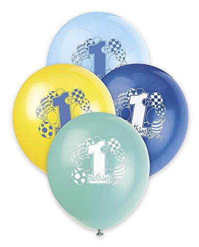30,5cm Latex-Luftballons blau Luftballons zum 1. Geburtstag, 8Stück
