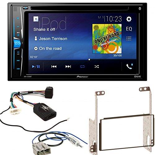 Pioneer AVH-A200BT Bluetooth USB MP3 Autoradio iPhone iPod Doppel Din CD DVD Touchscreen UKW DivX Einbauset für Nissan X-Trail T31