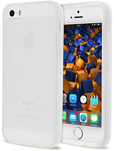 mumbi double GRIP Hülle für iPhone SE 5S 5 Schutzhülle transparent weiss