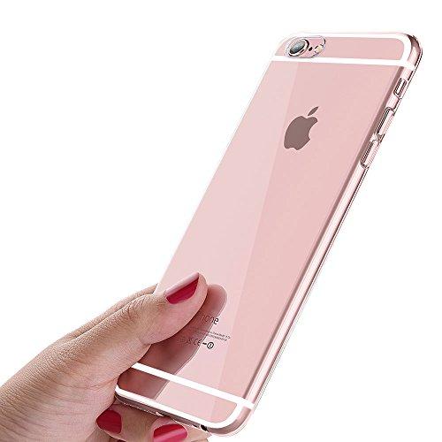 iPhone 6S Schutzhülle, iPhone 6 Handyhülle, ikalula Crystal iPhone 6S Hülle Ultra Dünn Kratzfest Anti-Shock Silikon Flexibel Gel TPU Bumper Case für iPhone 6 / iPhone 6S Cover - Transparent