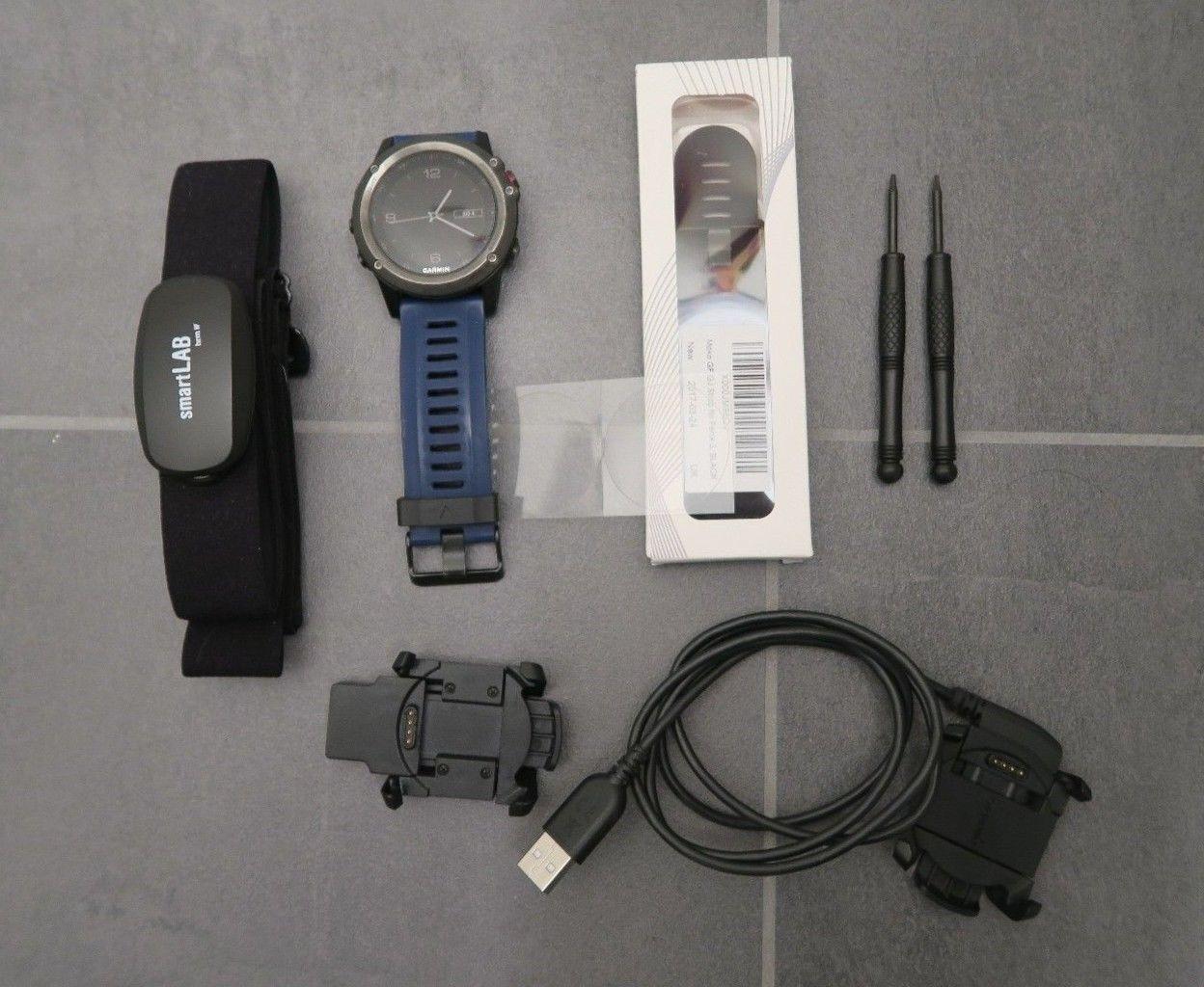 Garmin Fenix 3 Multi Sportuhr mit Zubehör
