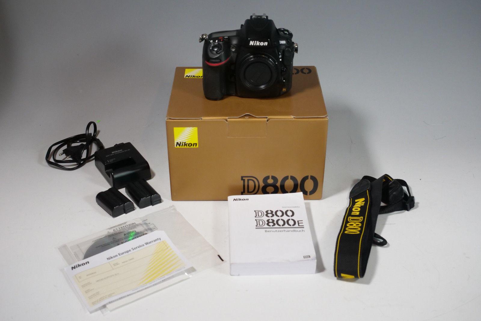 Nikon D800 DSLR-Kamera (36 Megapixel, 8 cm (3,2 Zoll) Monitor, LiveView,HD Video